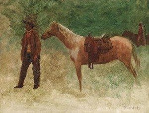 Standing Cowboy with Horse
