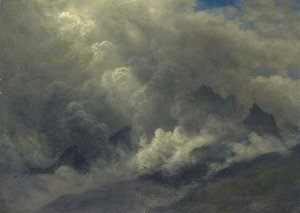 Albert Bierstadt - Study of Clouds and Mist