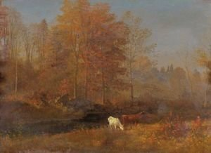Albert Bierstadt - Landscape With Cows 2