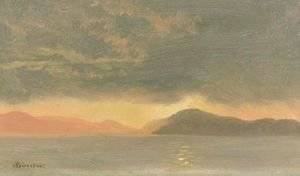 Albert Bierstadt - Sunset