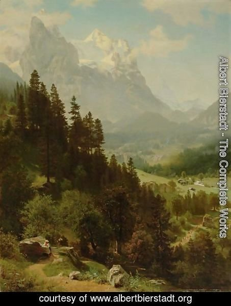 Albert Bierstadt - The Wetterhorn 2