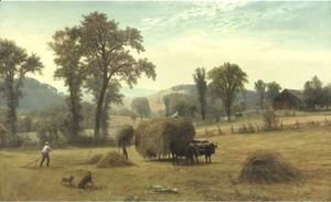 Albert Bierstadt - Gathering Hay, New Hampshire