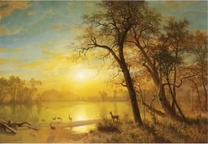 Albert Bierstadt - Mountain Lake 3