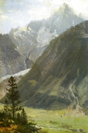 Albert Bierstadt - Mountain Landscape 2