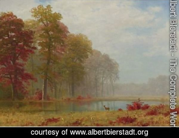 Albert Bierstadt - Autumn On The River