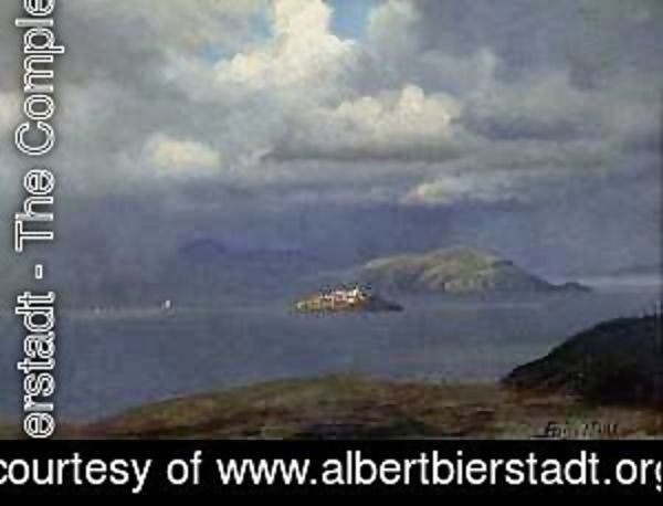 Albert Bierstadt - Alcatraz, San Francisco Bay