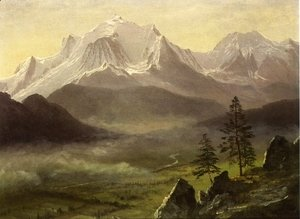 Albert Bierstadt - Grand Tetons 2
