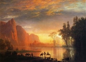 Albert Bierstadt - Yosemite Valley Sunset