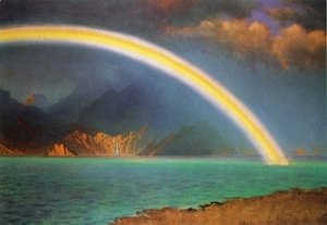 Albert Bierstadt - Rainbow over Jenny Lake, Wyoming