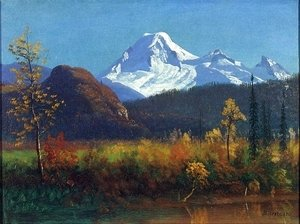 Albert Bierstadt - Mt. Rainier from the Southwest