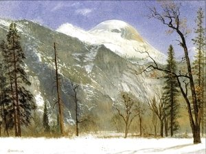 Albert Bierstadt - Winter in Yosemite Valley