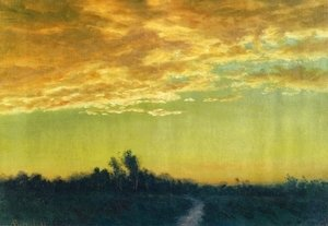 Albert Bierstadt - Twilight over the Path