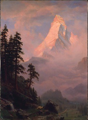 Albert Bierstadt - Sunrise On The Matterhorn
