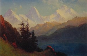 Albert Bierstadt - Splendour Of The Grand Tetons