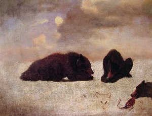 Albert Bierstadt - Grizzly Bears