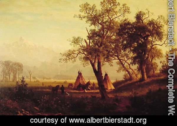 Albert Bierstadt - Wind River Mountains Nebraska Territory
