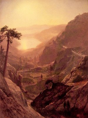 Albert Bierstadt - View Of Donner Lake California