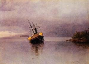 Albert Bierstadt - Wreck Of The Ancon In Loring Bay Alaska