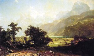 Albert Bierstadt - Lake Lucerne  Switzerland
