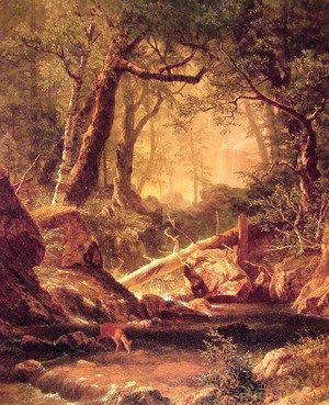 Albert Bierstadt - White Mountains  New Hampshire
