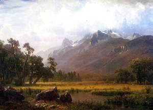Albert Bierstadt - The Sierras Near Lake Tahoe California