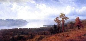 Albert Bierstadt - View Of The Hudson Looking Across The Tappan Zee Towards Hook Mountain
