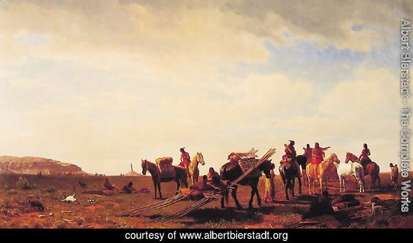 Indians Travelling Near Fort Laramie