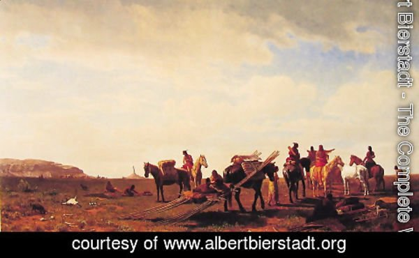 Albert Bierstadt - Indians Travelling Near Fort Laramie