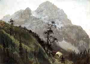 Albert Bierstadt - Western Trail  The Rockies