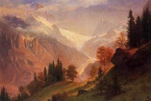 Albert Bierstadt - View Of The Grindelwald