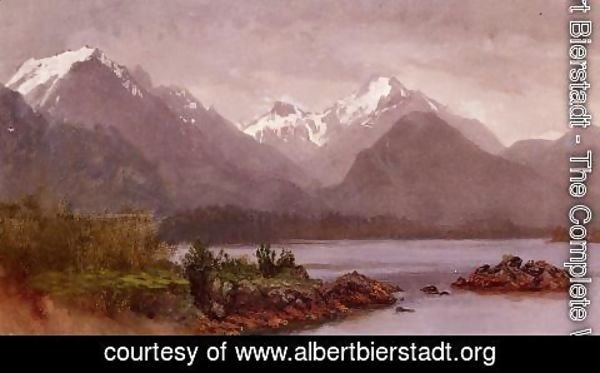 Albert Bierstadt - The Grand Tetons  Wyoming