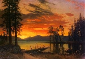 Albert Bierstadt - Sunset Over The River