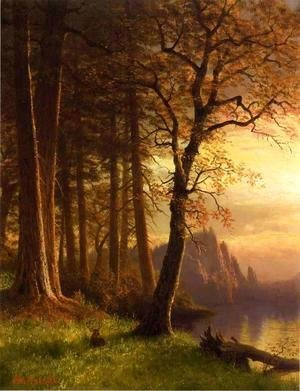 Albert Bierstadt - Sunset In California   Yosemite