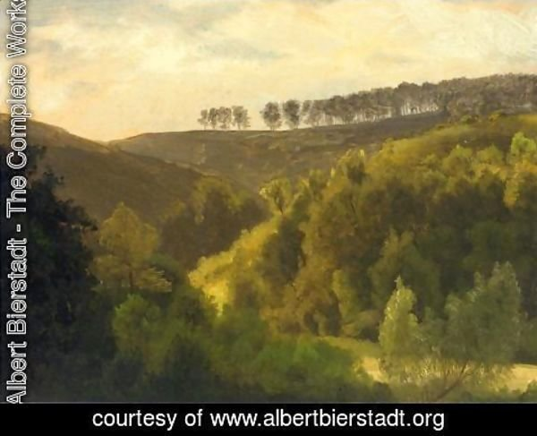 Albert Bierstadt - Sunrise Over Forest And Grove