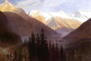 Albert Bierstadt - Sunrise At Glacier Station