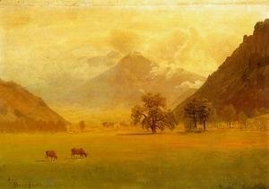 Albert Bierstadt - Rhone Valley