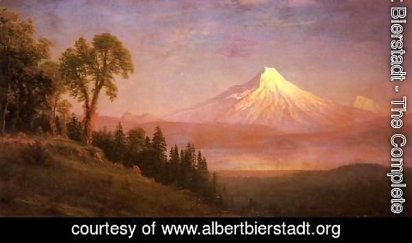 Albert Bierstadt - Mount St  Helens  Columbia River  Oregon