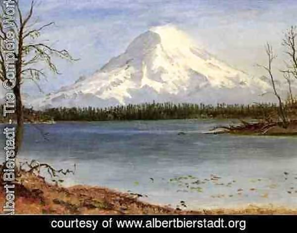 Albert Bierstadt - Lake In The Rockies