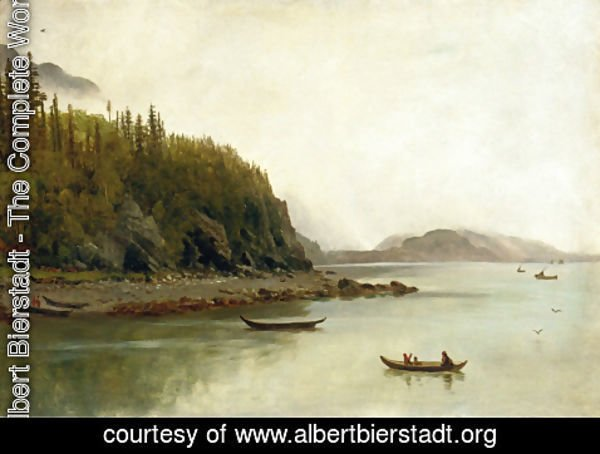 Albert Bierstadt - Indians Fishing