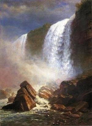 Albert Bierstadt - Falls Of Niagara From Below