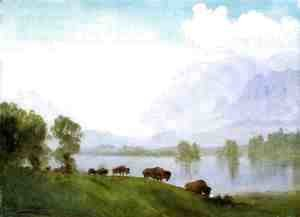Albert Bierstadt - Buffalo Country