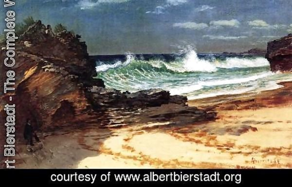 Albert Bierstadt - Beach At Nassau