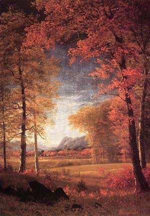 Albert Bierstadt - Autumn In America  Oneida County  New York