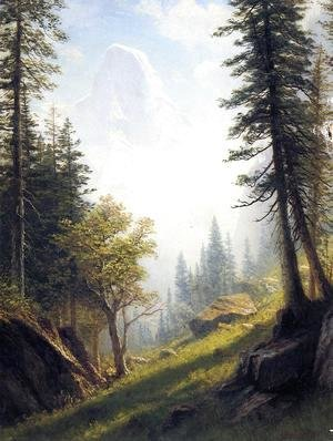 Albert Bierstadt - Among The Bernese Alps