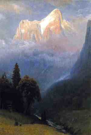 Albert Bierstadt - Storm Among The Alps