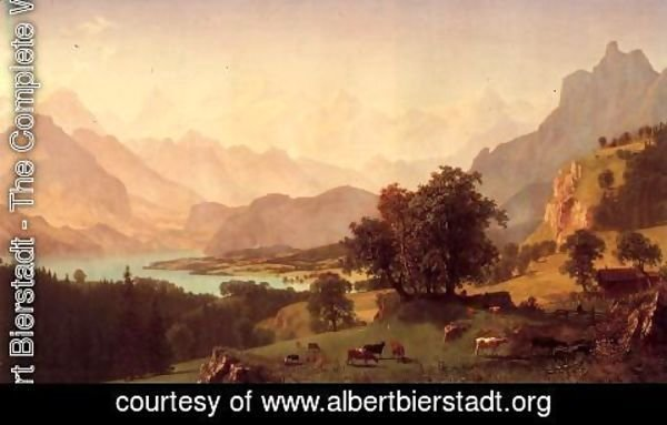 Albert Bierstadt - Bernese Alps  As Seen Near Kusmach
