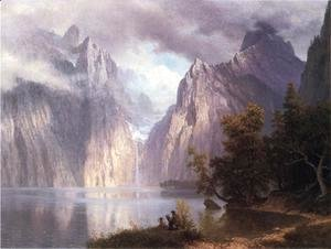 Albert Bierstadt - Scene In The Sierra Nevada