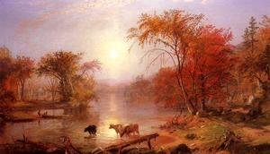 Albert Bierstadt - Indian Summer   Hudson River