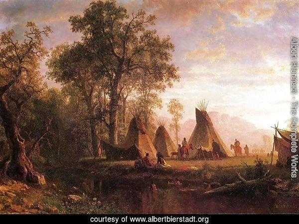 Indian Encampment  Late Afternoon