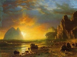 Albert Bierstadt - Sunset On The Coast